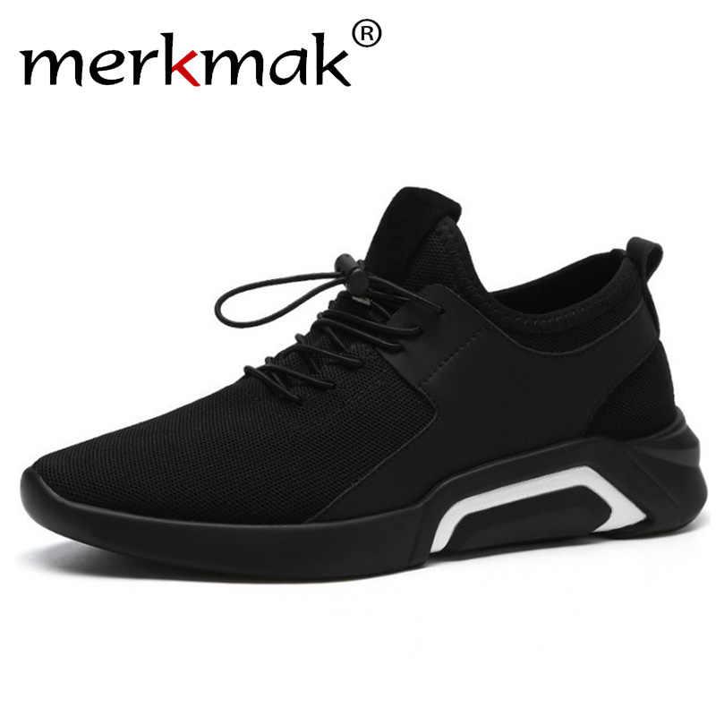 f9516c1b Merkmak/Новинка 2019 года; повседневные мужские кроссовки; дышащая удобная  сетчатая Мужская обувь;