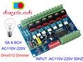 AC110V-220 v Hohe spannung 50 hz 6 kanäle Dimmer bord 6CH DMX512 Decoder DMX 5A/CH Für glühlampen Bühne lichter