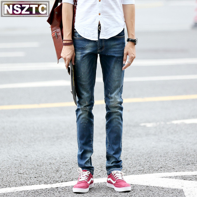 Fit Slim Us50 And Men's Straight Jeans Men From Size Shipping 36 Free 9european 28 Pants In Fashion Denim American Style ZiwXTlkuOP
