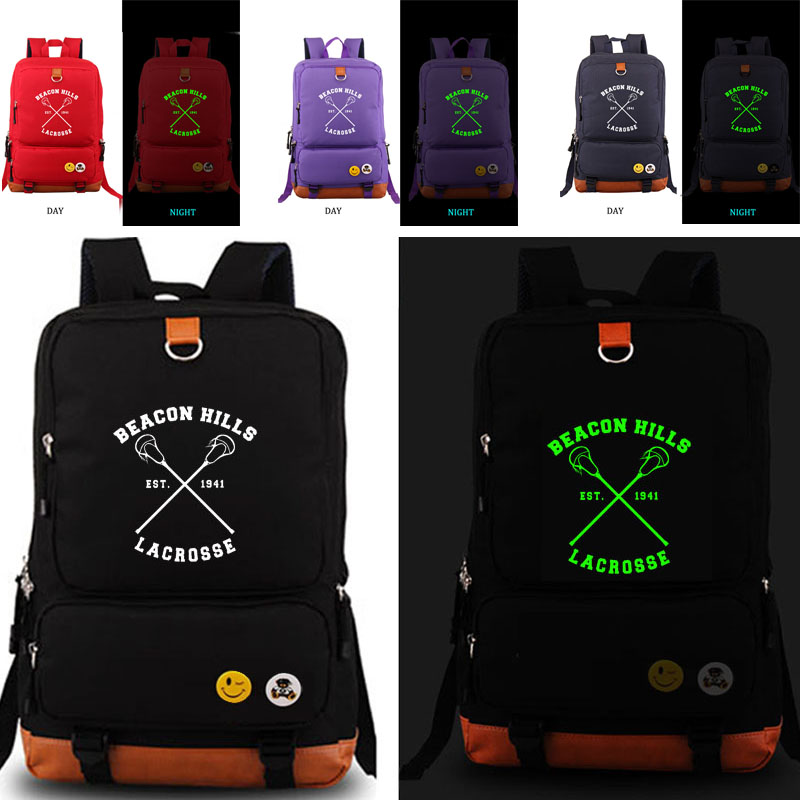 купить Teen Wolf Beacon Hills Lacrosse Backpack school bag Men women's backpack student school bag Notebook backpack Daily backpack