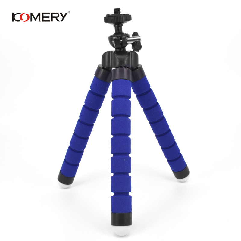 Image 2 - KOMERY Mini Flexible Sponge Octopus Tripod For iPhone Xiaomi Huawei Smartphone Tripod for Gopro Camera With Phone Clip Holder-in Live Tripods from Consumer Electronics