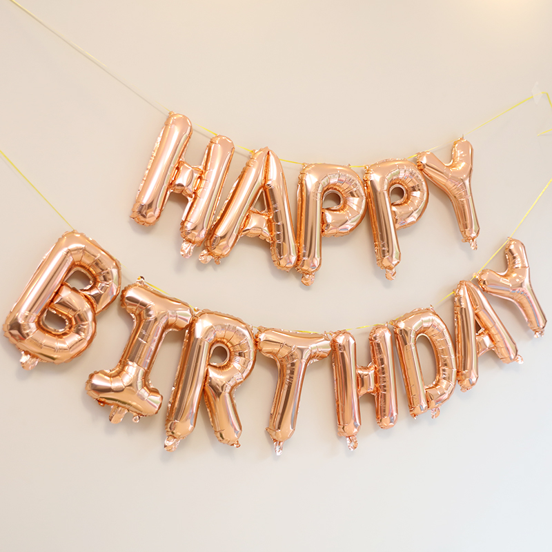 """13Pcs /""""HAPPY BIRTHDAY/"""" Letters Foil Balloons For Birthday Party Decoration 16/"""" F"""