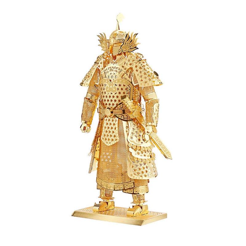 Piececool Warrior's Armor Knight DIY 3d Metal Nano Puzzle Assemble Model Kits P049 Laser Cut Jigsaw Toys пресс спина комбинированый bencarfitness тs p049