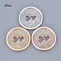 Alrededor de Mi 33mm Disco moneda amor 3 unid/set 2016 nuevos Cristales colgantes fit 35mm medallón de la moneda