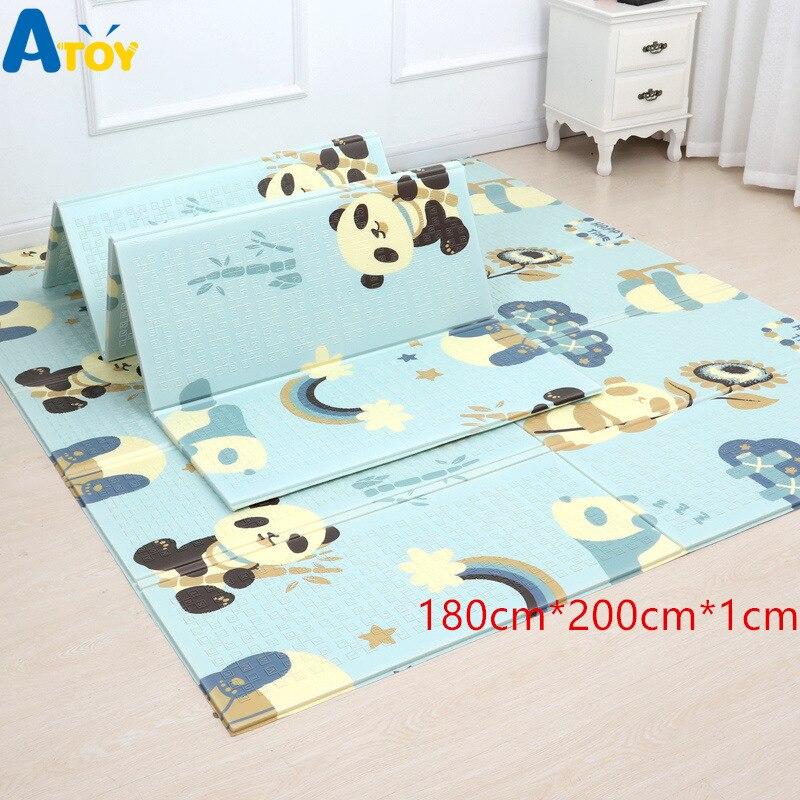 XPE épaissi Double face tapis de jeu accueil Pad bébé jeu pliant ramper tapis en mousse jouets bébé gymnastique activité bébé doux unisexe