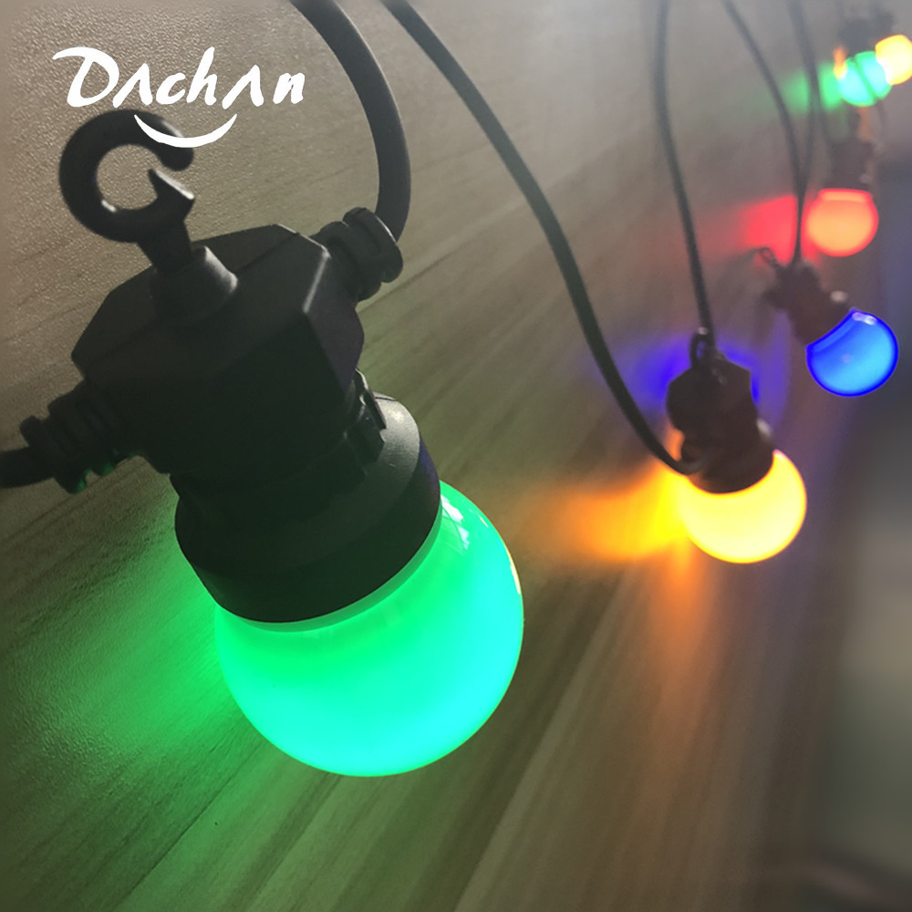 13M Milky Globe G50 Multicolor Bulb String Light Connectable Outdoor Light String For Party Christmas Wedding