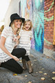 Mother Daughter Dresses 2017 Summer Family Outfits Mom and Daughter Dress Matching Clothes Blue White Dress for Kids and Women