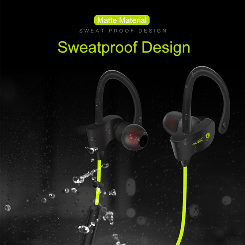Bluetooth Ear Hook In ear Sport Stereo Headphone Earphone Bluetooth Headset Wireless for Running Exercise Gym with Mic gookee q9 ipx4 waterproof running ear headset stereo sport earphone wireless bluetooth headphone for mic for iphone android