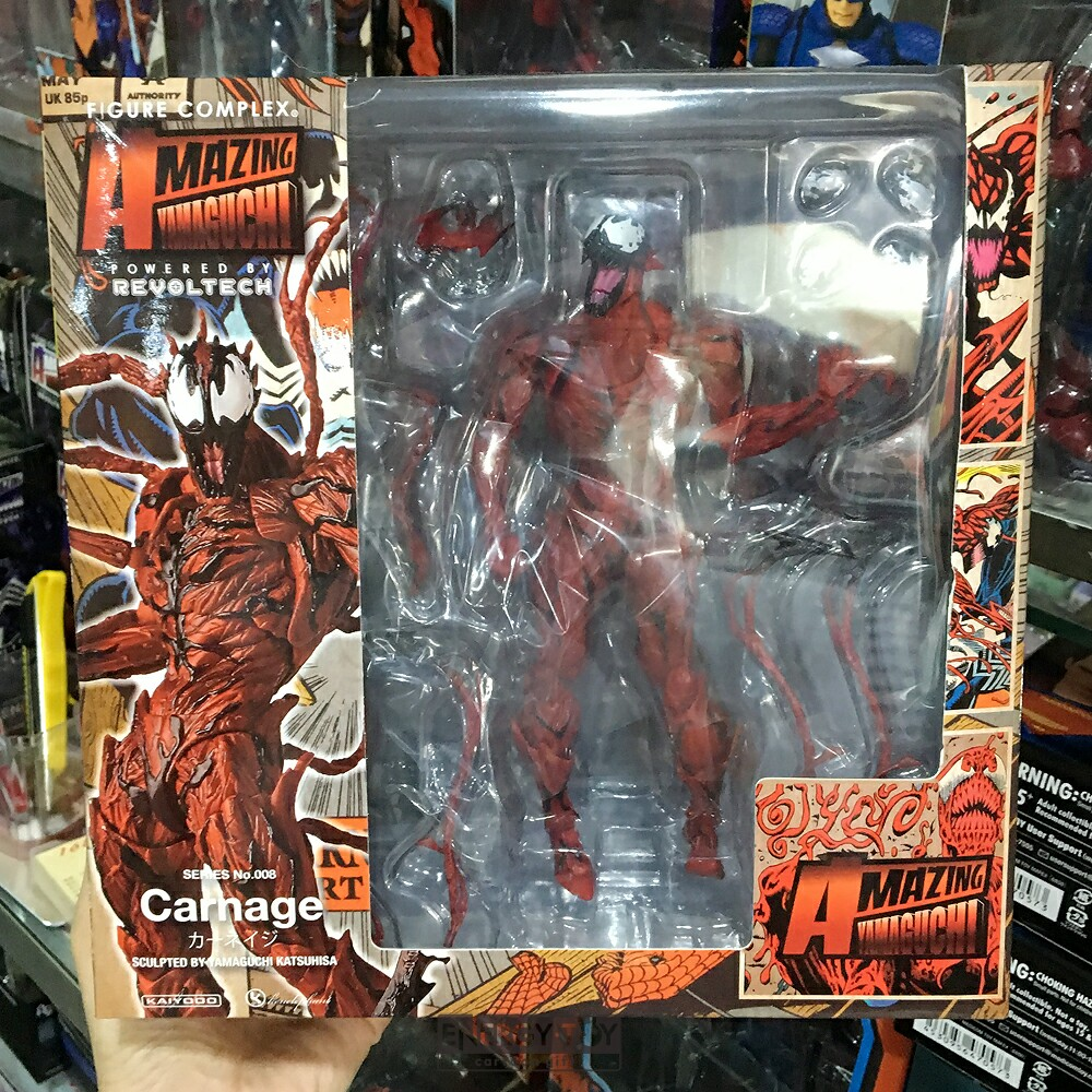 cartoon spider man cletus kasady carnage venom no 008 pvc action
