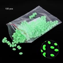 100 stk 3.4 * 5mm Oval Soft Luminous Fishing Perler Sea Fishing Lure Flydende Float Tackles