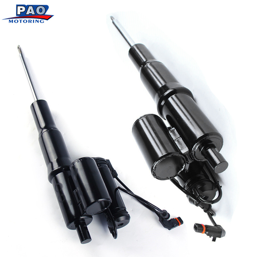2PC Front Shock Absorber New For Mercedes W220 S430 S500 4MATIC Air Spring Assembly OEM 2203202138 2203202238 Air Ride car part airsusfat 1 pair front air spring bags for mercedes s class w220 air shock absorber parts repair kits oe 2203202438 2203205113