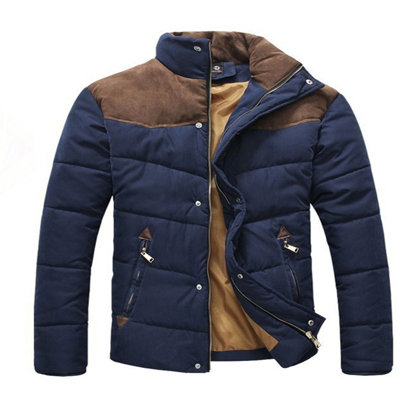 2016 Hot Sale Men Winter Splicing Cotton Padded Coat