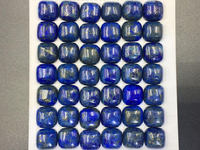 6pcs 10mm Blue Lapis Cabochon 10mm Square Pillow Cabochon Lapis Lazuli Gemstone Cabochon Loose Gemstone Semi