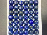 6pcs 10mm Blue Lapis Cabochon 10mm Square Pillow Cabochon Lapis Lazuli Gemstone Cabochon Loose Gemstone Semi
