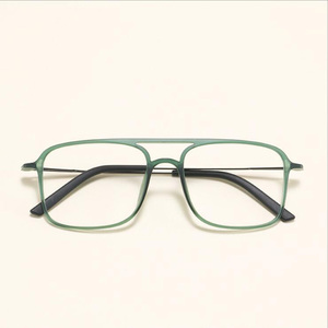 Image 2 - Super Light Square ULTEM Eyeglasses Double Beam Glasses Frame Men and Women Models Tide Big Face Comfortable 7g