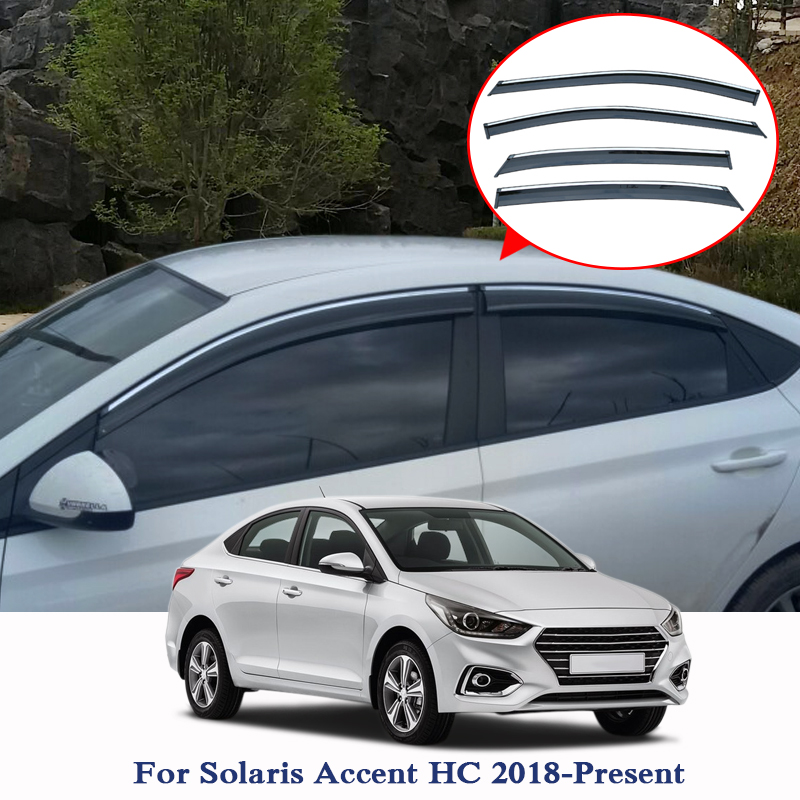 For Hyundai Solaris Accent HC 2019 Car Styling Awnings