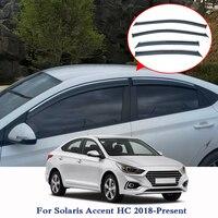 For Hyundai Solaris Accent HC 2019 Car Styling Awnings Shelters 4pcs/lot Window Visors Sun Rain Shield window Stickers Covers