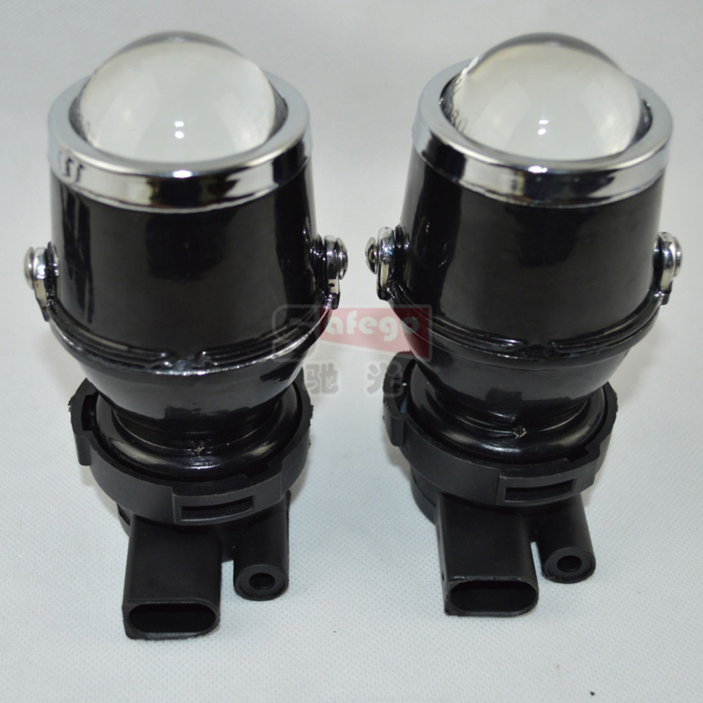 ФОТО 1pair 12V/35W 4300K car auto fog hid xenon projector lens H3 light fog light 1.8inch xenon fog projector lens