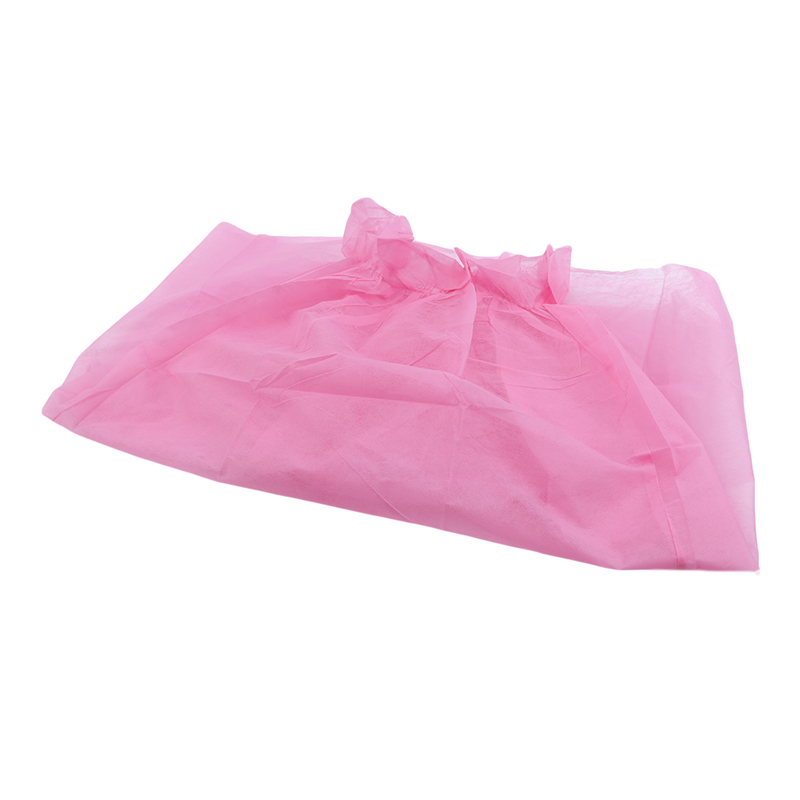 10pcs/Set Pink Color Beauty Salon Disposable Non-woven Bath Skirt Dress Disposable Spa Dresses Beauty Salon Products Hot Sale
