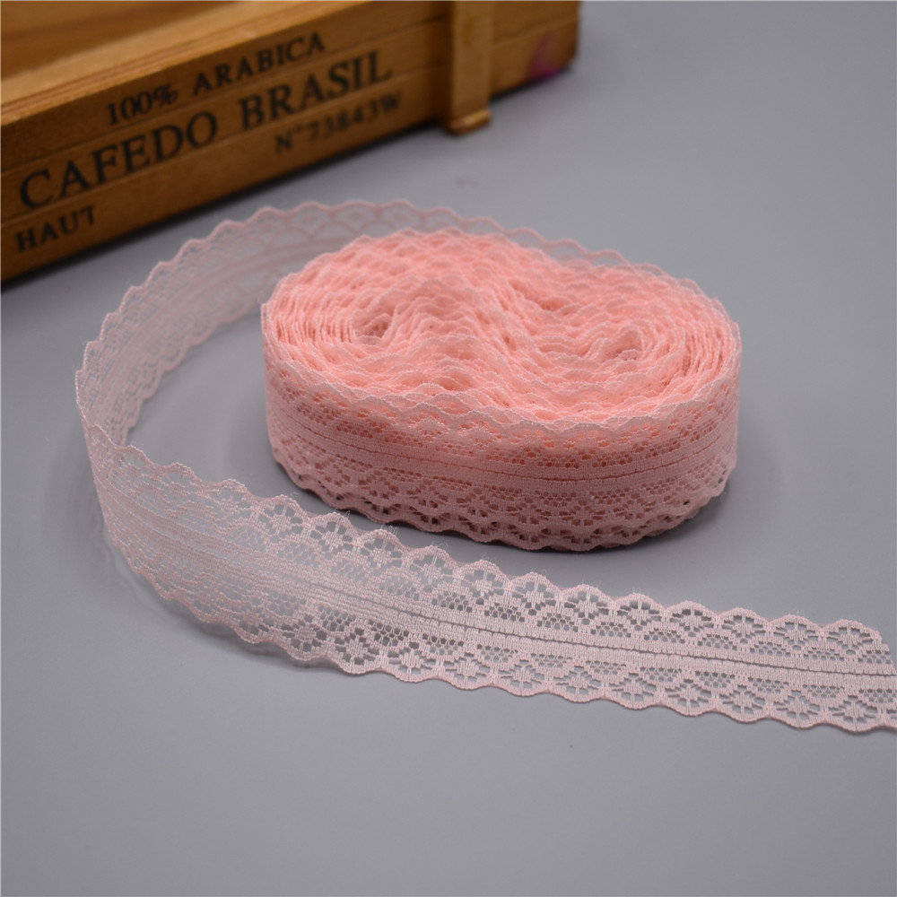 HTB1h1HgdRsmBKNjSZFFq6AT9VXaL High quality 10 yards Lace Ribbon Tape Width 28MM Trim Fabric DIY Embroidered Net Cord For Sewing Decoration african lace fabric