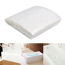 Thickened Disposable Bathtub Cover Bag Family Hotel Health Bath Tub Film  Home Decor Salon Household Bag Lining Clear