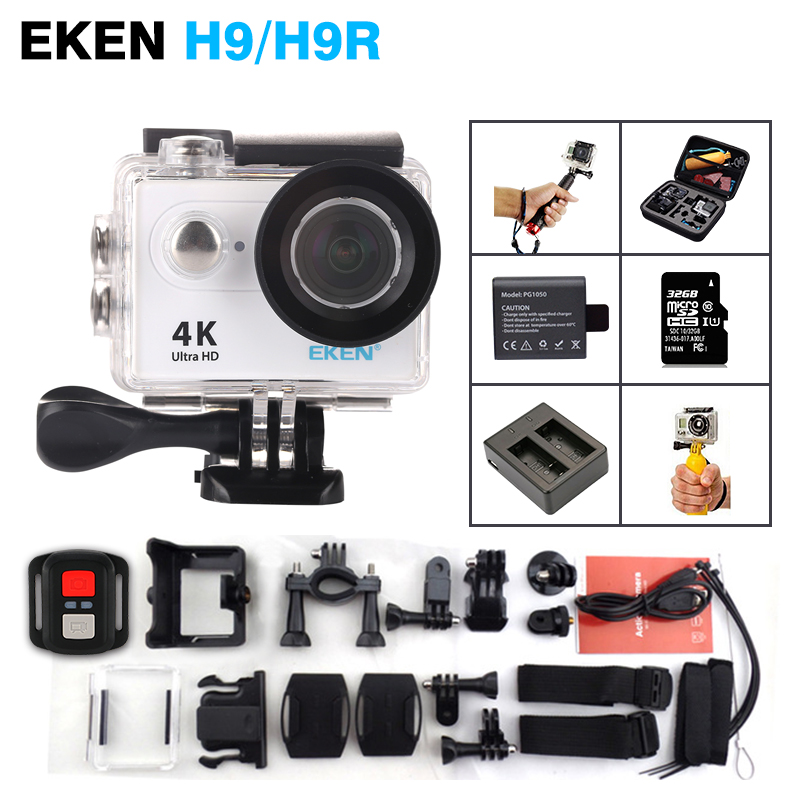 2016 ORIGINAL EKEN H9/H9R Ultra HD 4K /25fps Remote WiFi 2.0 LCD waterproof pro Helmet Sport Cam underwater go Action camcorder eken mini sports action cameras h9 h9r wide angle 4k 25fps hd video helmet cam 2 0 go underwater pro vr go pro cameras