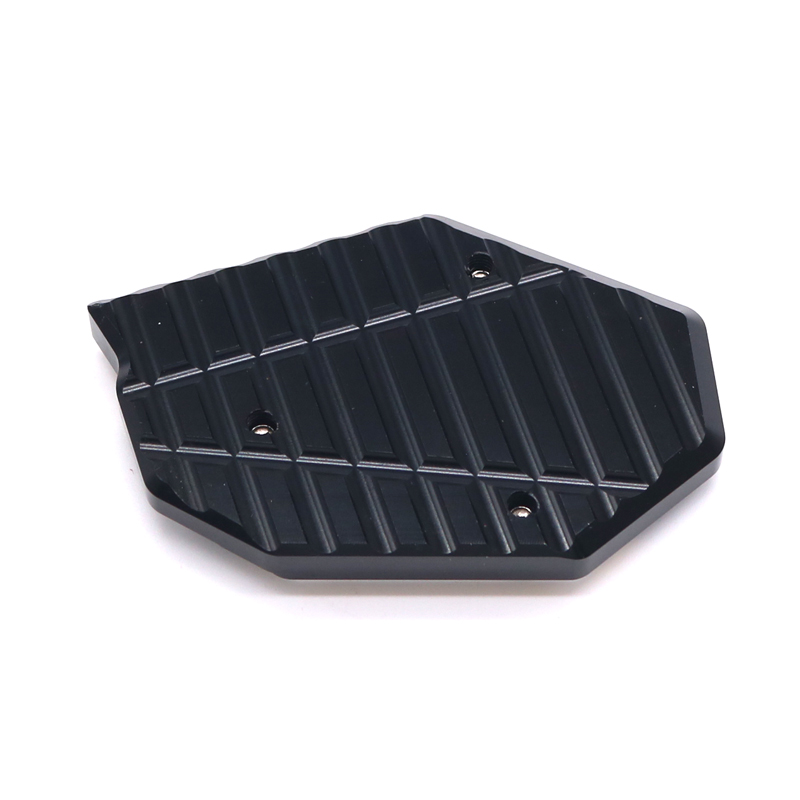 Side support increase motorcycle side CNC Widening For KYMCO Xciting 250 300i 400 Ampliar Support Foot Pad Base moto stand in Stands from Automobiles Motorcycles
