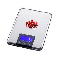 Цифровые кухонные весы с сенсорным экраном, Большая пищевая диета, баланс веса, тонкие электронные весы из нержавеющей стали, 15 кг/1 г