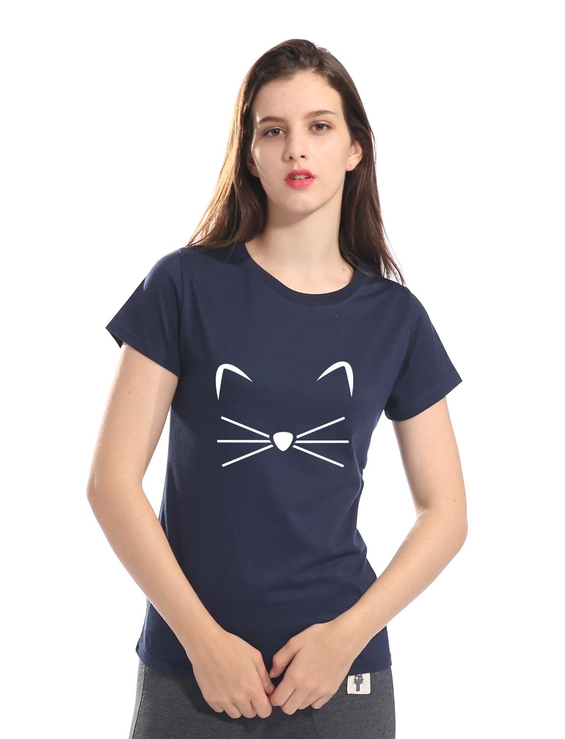 2018 Summer KITTY KITTEN Meow Print kawaii t shirt Wome shirt funny stick figures cute t-shirt women fashion brand harajuku tops