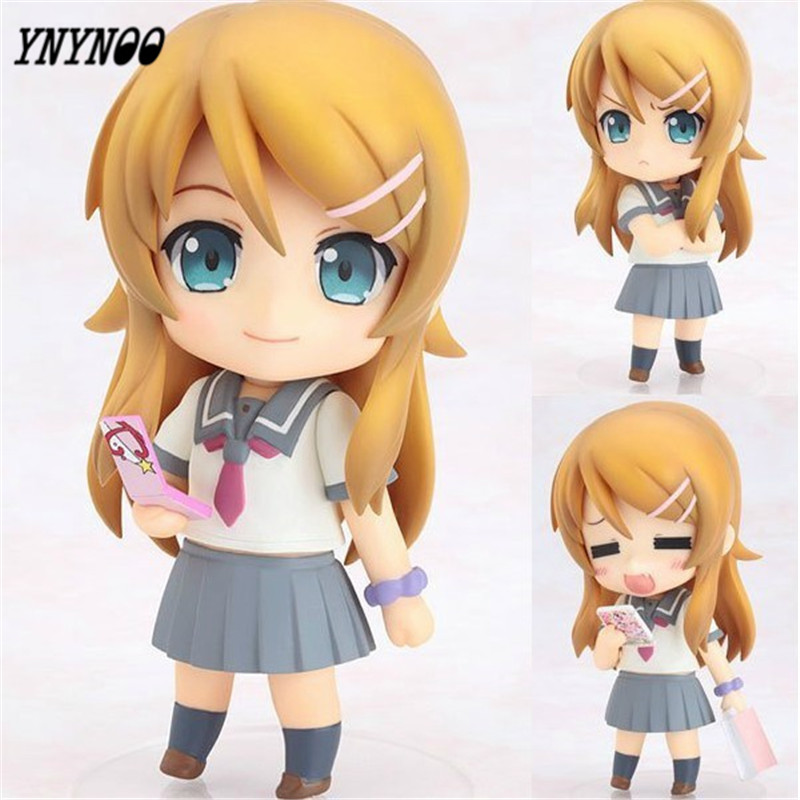 YNYNOO Cute 410cm My Little Sister Can't Be This Cute Kirino Kousaka Nendoroid PVC Action Figure Model Toy Free Shipping P041 20cm ore no imouto my little sister can t be this cute sexy mask collectible action figure pvc toys for christmas gift
