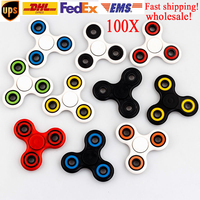 100pcs Lot Spinner Hand Finger Rotation ADHD Fingertips Relieve Stress Anti Stress Toys For Autism Gyro