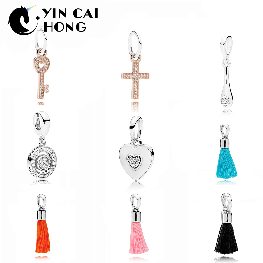 YCH 100% 925 Sterling Silver 1:1 Authentic Classic 797430CZ SPINNING HEARTS OF HANGING Glamour Vintage Women Pendant JewelryYCH 100% 925 Sterling Silver 1:1 Authentic Classic 797430CZ SPINNING HEARTS OF HANGING Glamour Vintage Women Pendant Jewelry