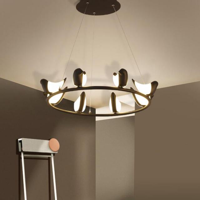 Modern Art Bird Led Pendant Lights Lamps Bright High Lighting