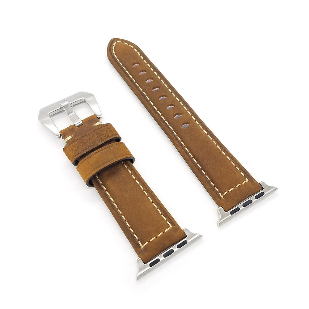 High quality retro Leather Band for Apple watch 42mm 38mm watchband Strap With adapter for iWatch Series 3 / 2 bands new arrival for apple watch band high quality wooden watchband black brown strap for apple watch band series 3 2 1 42mm 38mm