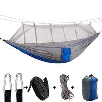 Ultraleicht Hängematte Mit Moskito Net Jagd Schwingen Hängen Stuhl Doppel Person Schlafen Bett Outdoor Camping Tragbare Hängematte