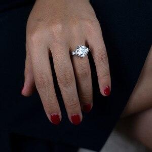 Image 4 - OneRain 100% 925 Sterling Silver utworzono Moissanite Aqumarine kamień ślub pierścionek z białego złota biżuteria prezent hurtownie