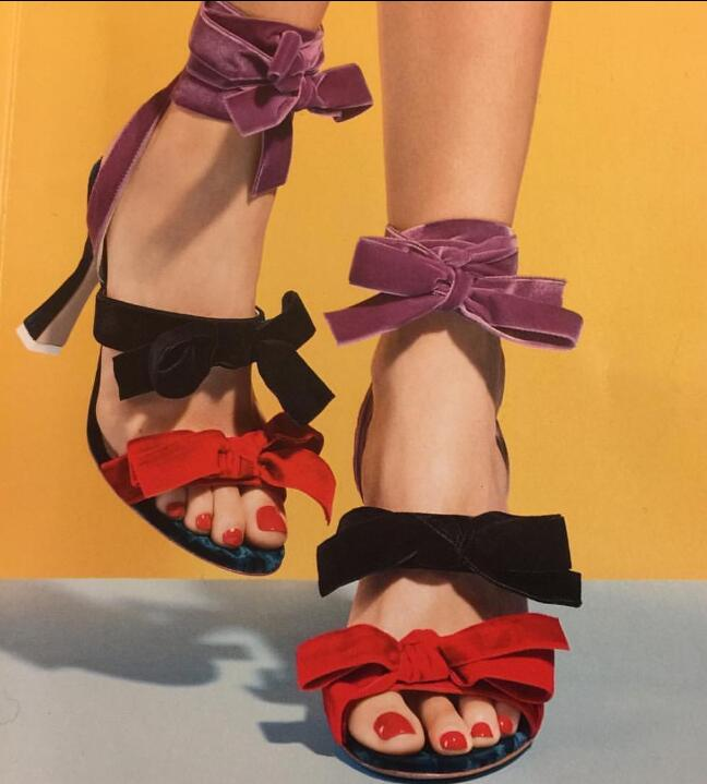 2017 Summer Hot Mixed Colors Velvet Bow Women Open Toe Sandals Ladies Lace Up High Heels Sexy Party Shoes Dress Shoes loslandifen sexy gladiator women sandals open toe lace up thick high heels shoes ladies summer red bridal party shoes 368a 1pa