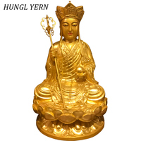 33cm Resin Buddha statue Home decor Gold ksitigarbha craft Budas India style Sculpture escultura Statues for Decoration