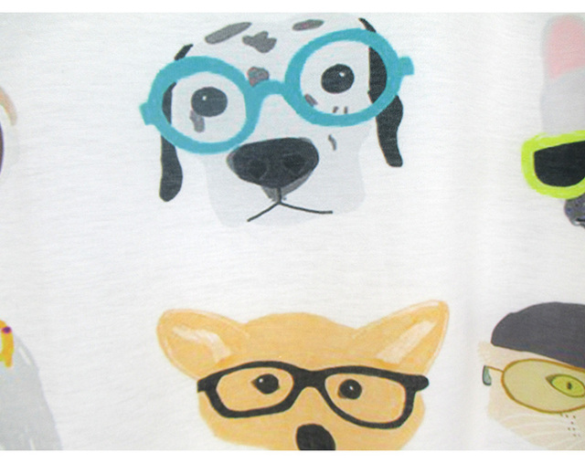 Cute Dogs printing summer top tees