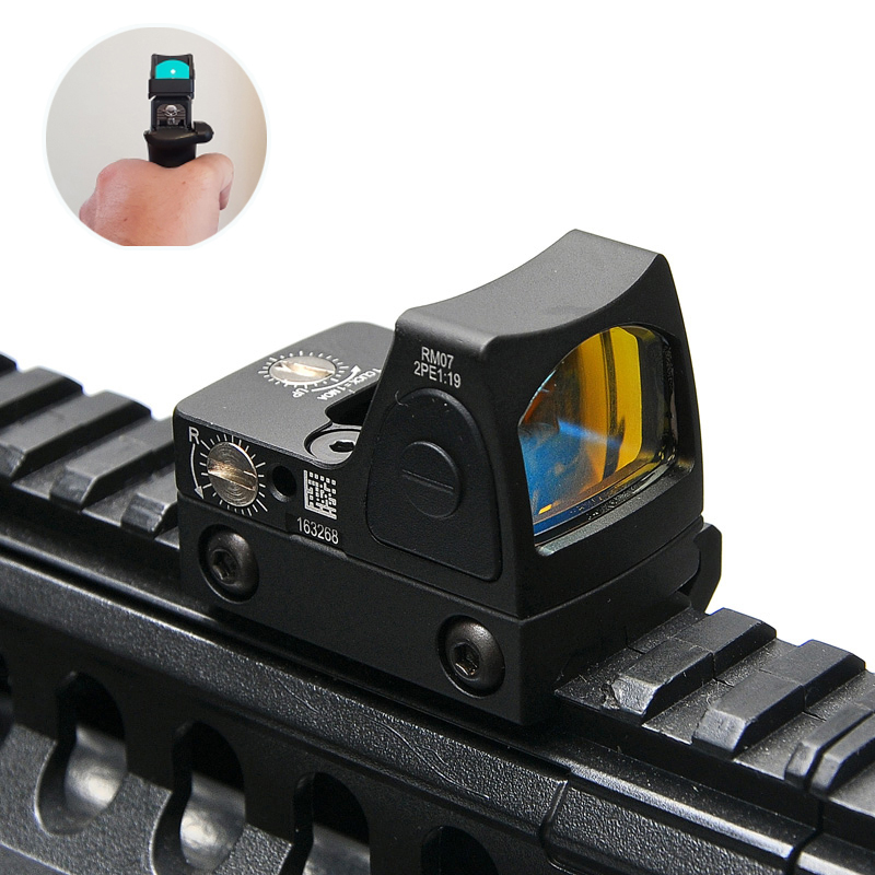 Trijicon RMR Style Adjustable Reflex Red Dot Sight 3.25 MOA Scope for Hunting Scopes Fit 20mm Picatinny Rail and Airsoft Pistol mini rmr style 1x red dot sight scope for picatinny rail and glock base mount key switch 6 moa black m6293
