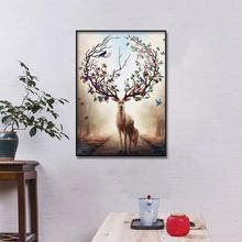 все цены на Modern Art Wall Nordic Elk Abstract Canvas Oil Painting Wall Art Canvas Picture Poster and Printed For Living Room Home Decor онлайн