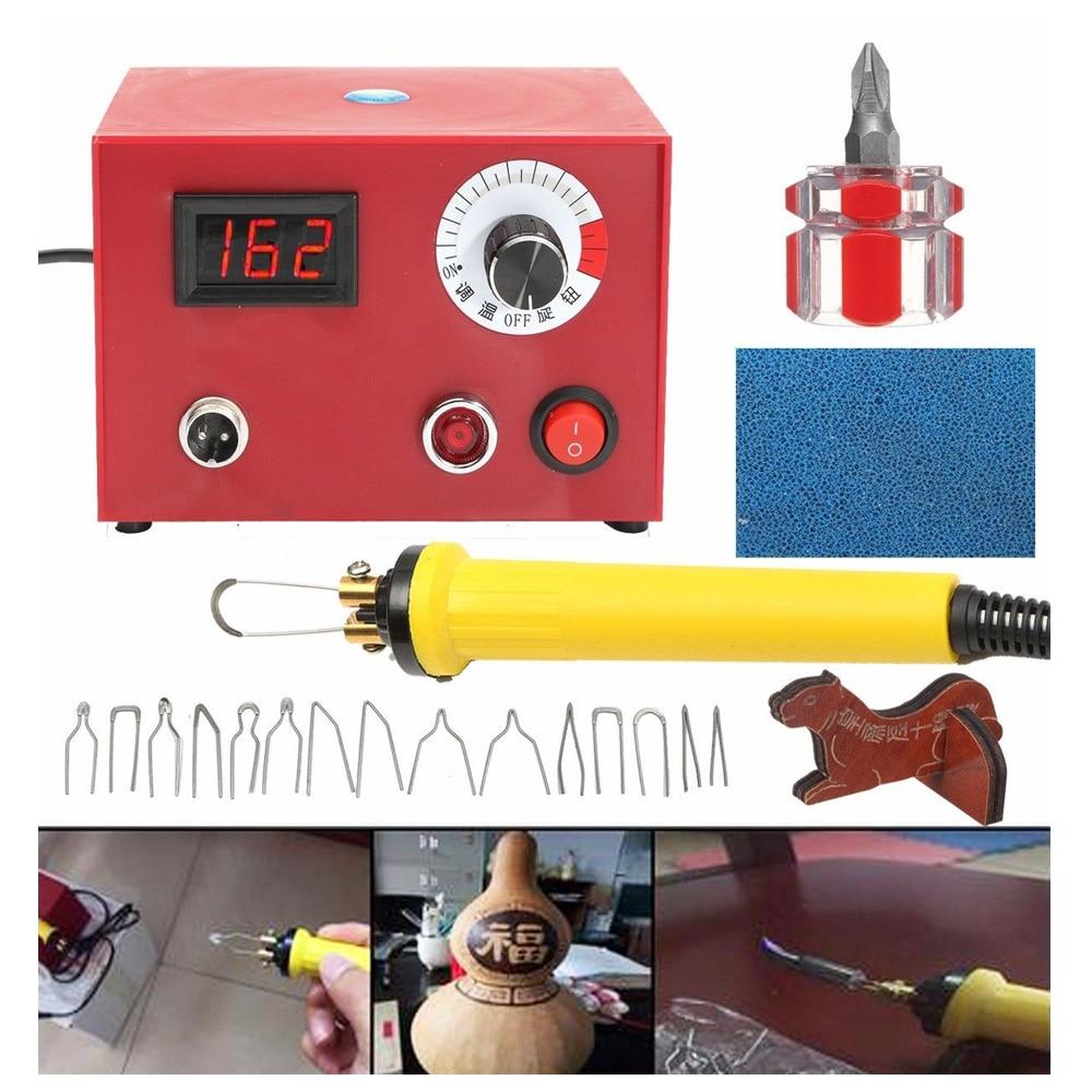Wood Burning Machine w/ Pen 220V 50W Pyrography Pen Machine Kit Set Wood Crafts Burning Tools burning time