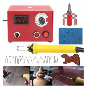 Wood Burning Machine w/ Pen 220V 50W Pyrography Pen Machine Kit Set Wood Crafts Burning Tools