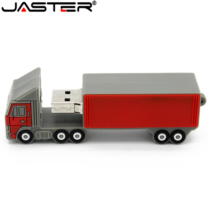 JASTER  The New Cute Truck USB Flash Drive USB 2.0 Pen Drive Minions Memory Stick Pendrive 4GB 8GB 16GB 32GB 64GBgift