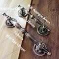 Расстояние между отверстиями 128/160 мм красный Медь/античные медные мебельные дверные ручки для межкомнатных дверей Ручка двери с металличес...