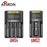 Official NITECORE UMS2 UMS4 Sc4 Intelligent Battery Charger USB Output 3A for Lithium Ion Ni MH NiCd 10350 10440 10500 18650