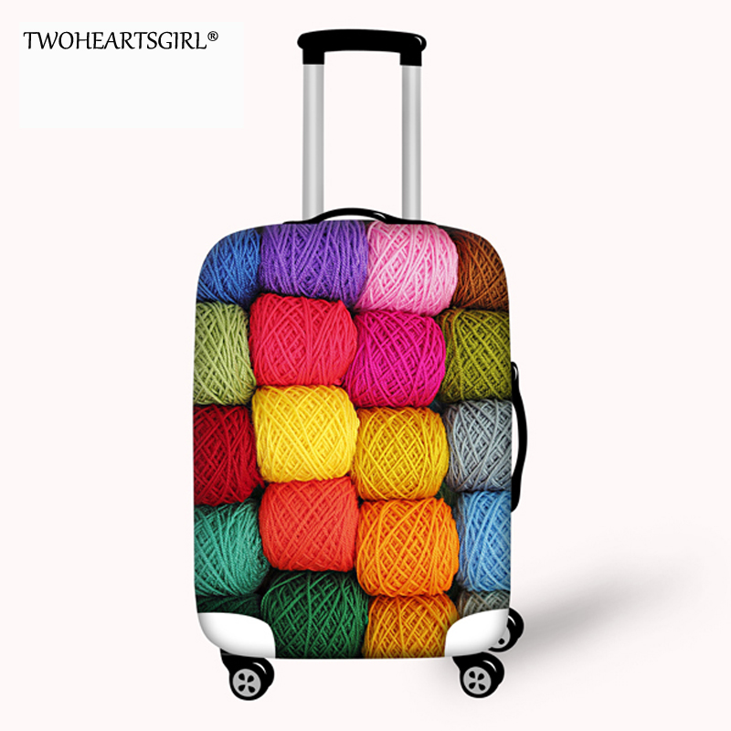 TWOHEARTSGIRL Wool Cloth Designer waterproof Luggage Protective Cover Elastic Travel Suitcase Cover for 18/20/22/2426/28/30 inch
