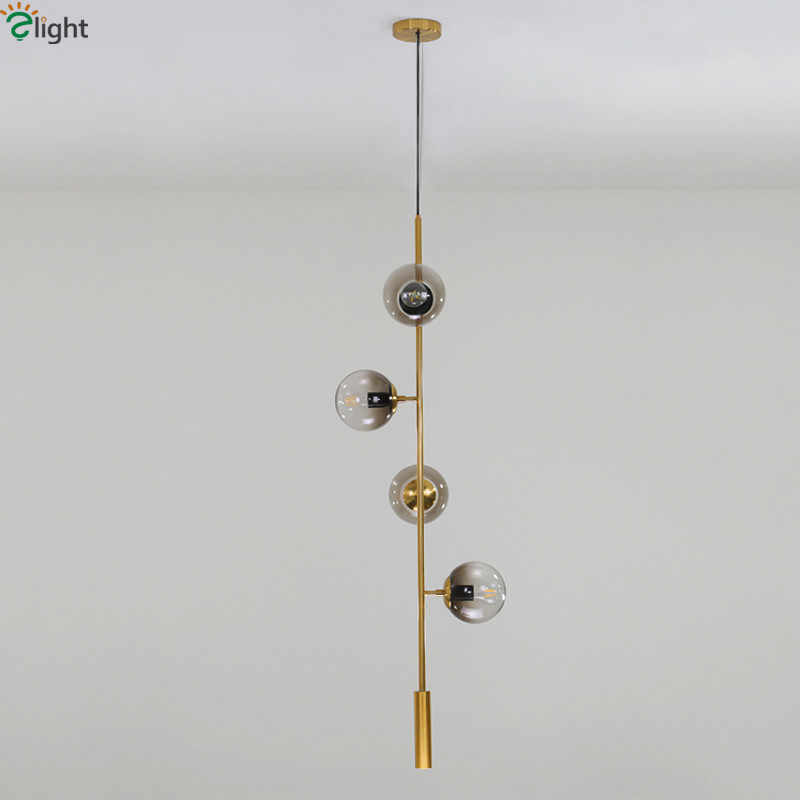 Nordic Modern E27 Led Chandelier Cable Hanging Chandelier Lighting Pendant Led Chandelier Gray / Clear Glass Shades Chandelier