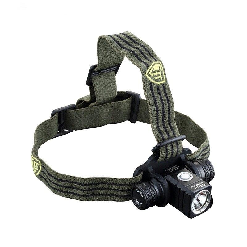 цена на Rechargeable headlight JETBeam HR25 Headlamp XM-L2 max. 800 Lumens beam distance 140 meters waterproof head light + battery