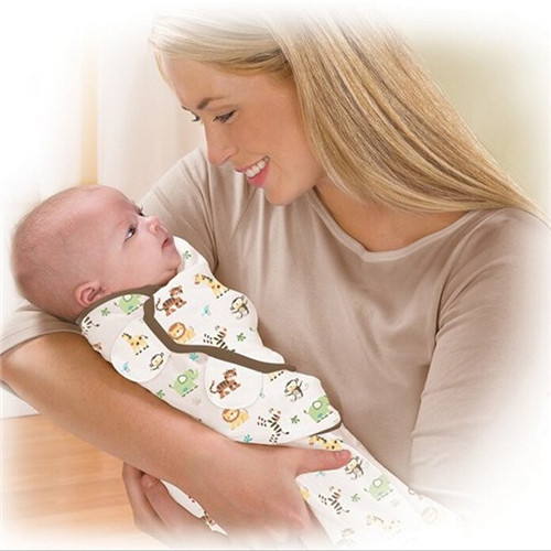 Newborn Baby Wrapped Blanket Cotton Swaddle Wrap Infant Wrap Baby